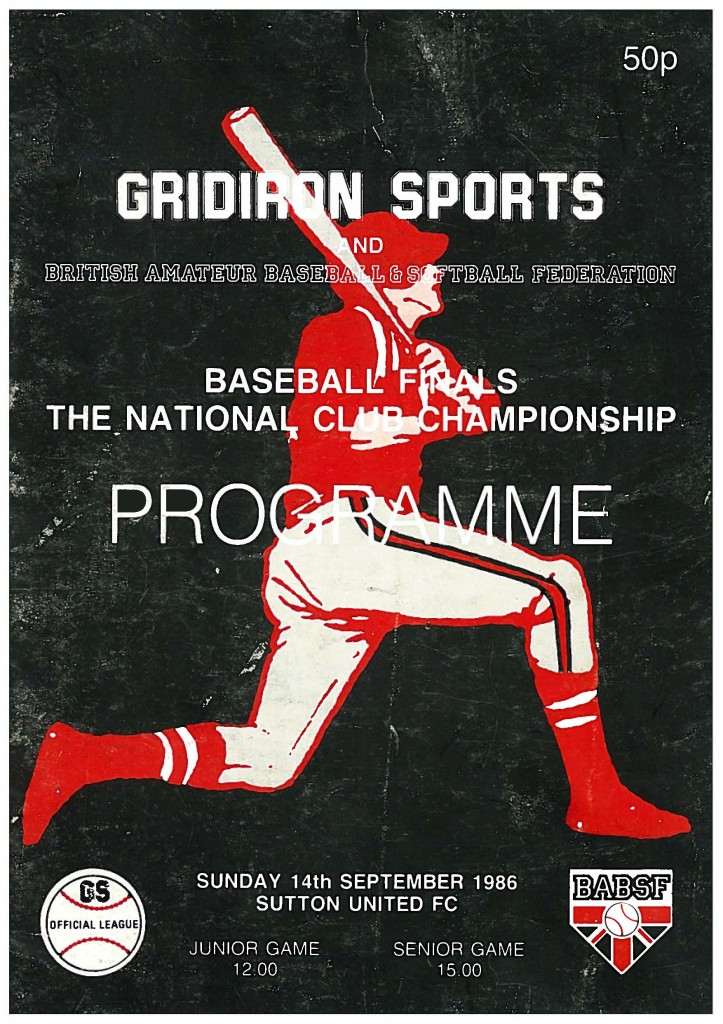 1986 National Final programme cover
